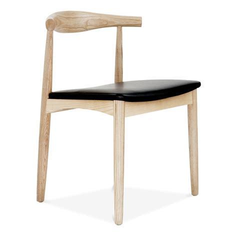 Hans Wegner Style Elbow Chair In Natural Ash Modern