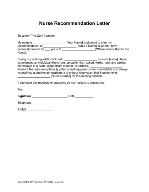 brilliant ideas of recommendation letter sample for staff nurse in