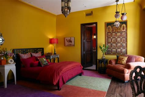 yellow accent wall bedroom 21 moroccan bedroom designs decorating ideas design