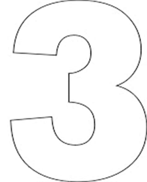 best photos of number 3 template printable number 3