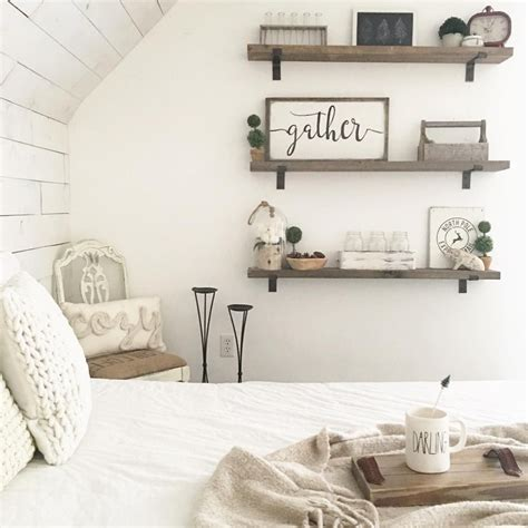 wall shelves for rooms pin by dena rowe on blogs instagrams farmhouse bedroom decor shelves in bedroom farmhouse