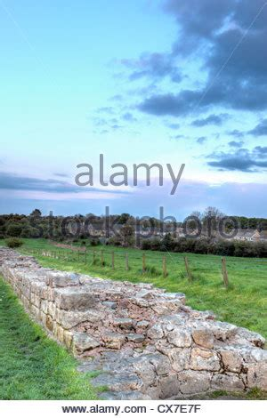 remains of hadrian's wall, heddon, near newcastle upon