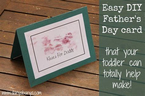 easy to make fathers day cards easy diy s day card that toddlers can help make