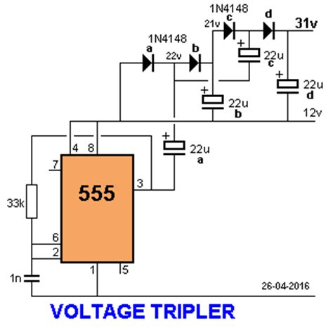 capacitor voltage doubler voltage doubler voltage tripler electronics for you