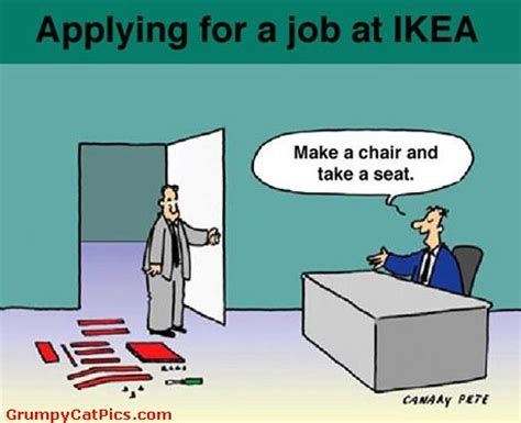 job interview at ikea good start funny picture really