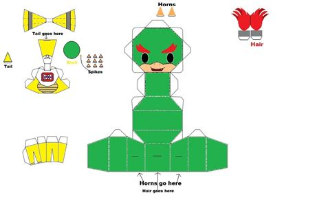 Bowser Papercraft - bowser papercrafts images