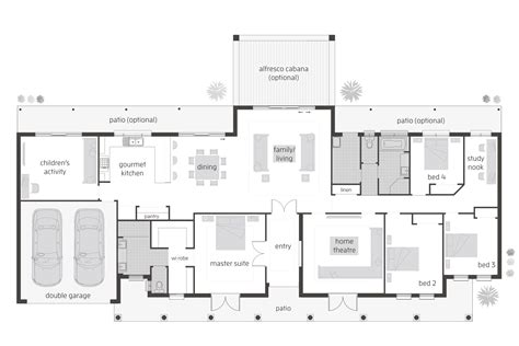 Floor Plan Friday 4 Bedroom Children S Activity Room 4 Bedroom House Designs Australia
