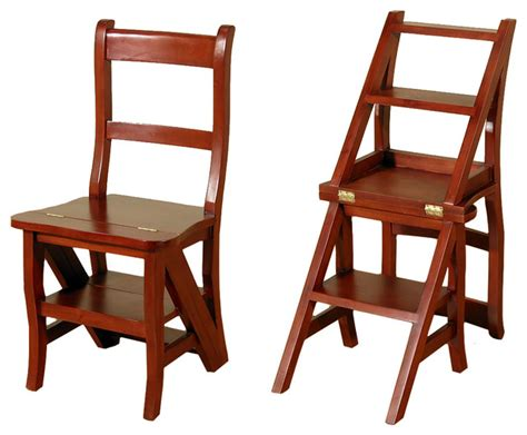 Library Chair Step Stool by Cherry Convertible Ladder Chair Office Home Library Step