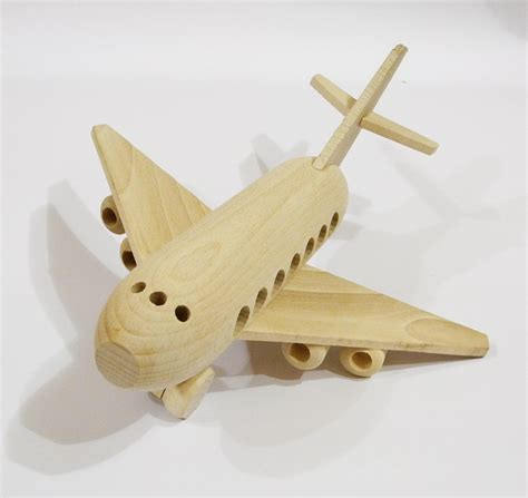 Handmade Childrens Toys - airplane organichandcrafted wooden toys eco friendly