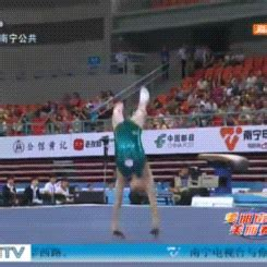 triple layout gymnastics wogymnastika shang chunsong s triple and half twisting