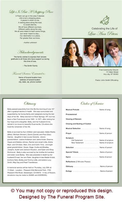 program for memorial service template 1000 ideas about memorial service program on