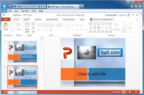 view edit and share presentations online using powerpoint