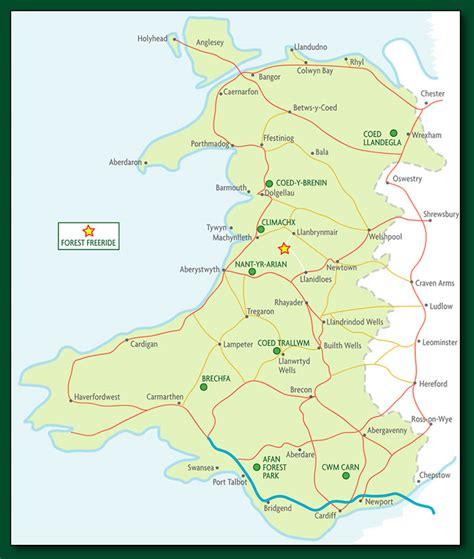 map uk and wales mountain biking in wales
