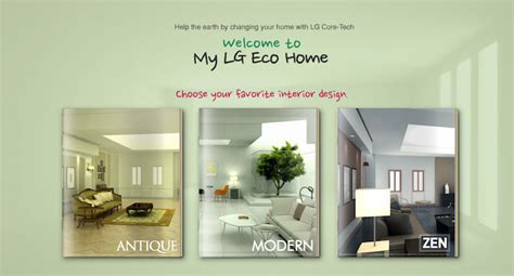 design virtual dream house my eco home by lg allows green facebook users to design a