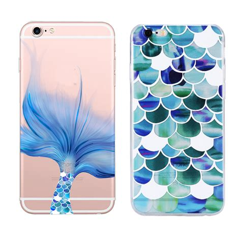 Line Doll For Iphone 5 5s Se 6 6s 6 6s Un71 luxury mermaid style transparent soft tpu for apple