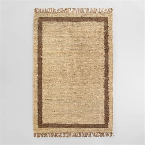 Jute Area Rugs Shiitake Windowpane Bordered Jute Area Rug World Market