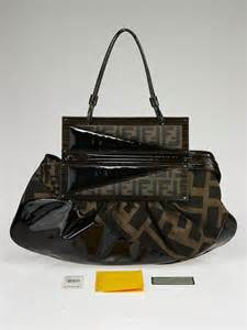 Fendi To You Embellished Convertible Bag by Fendi Tobacco Tortoise Shell Patent Leather To You