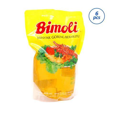 Minyak Goreng Bimoli jual bimoli minyak goreng 2000 ml 6 pcs harga kualitas terjamin blibli