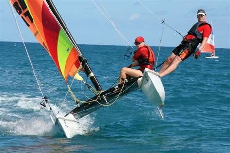 catamaran flying a hull sail our beach fleet viking sailing club sailing and