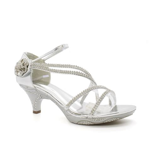 Strappy Bridal Shoes by Bridal Shoes Size Womens Diamante Wedding Low