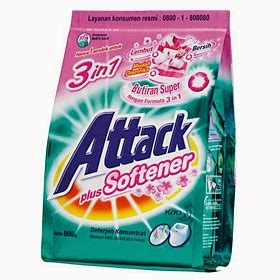 Attack 3d Plus Softener 800gr contoh bahan kimia sebagai pembersih