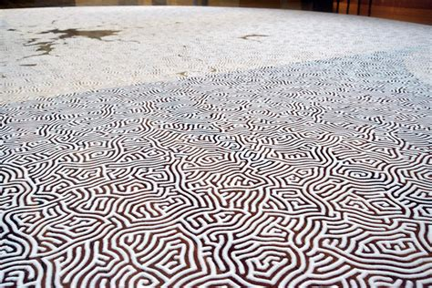 how is table salt made motoi yamamoto outlines complex labyrinths made of table salt