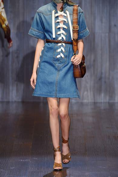 Dress Ld100 Denim Gucci gucci lace up denim mini dress net a porter