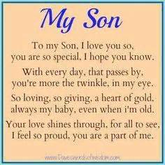 Inspirational Quotes For Sons Birthday From Inspirational Birthday Quotes For Sons Google Search