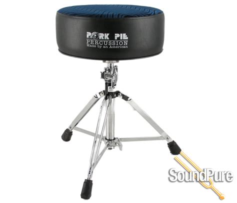 Pork Pie Drum Stool by Pork Pie Percussion Drum Throne Black Blue Swirl Ebay