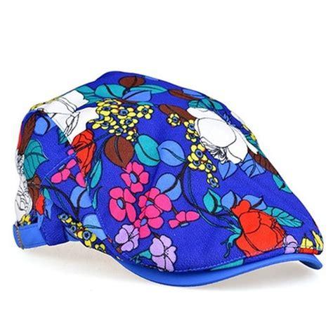 Floral Flat Cap chelsea handler s black locomo hats flower floral