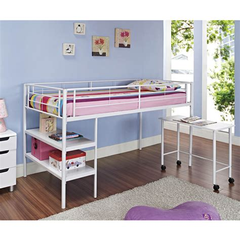 loft bed desk shelf med art home design posters