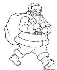 santa claus pictures to color 187 santa claus with gifts bage coloring