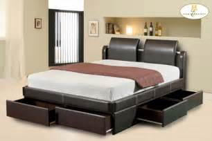 bed design with storage platform beds with storage space design ideas