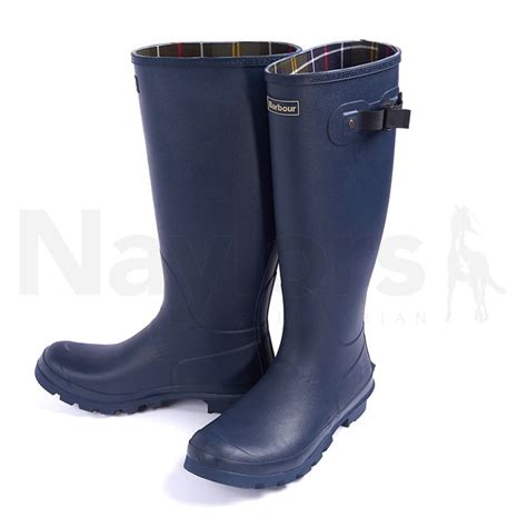 barbour mens bede wellington boots navy naylors