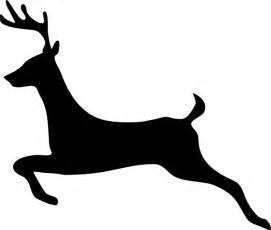 Reindeer Silhouette Outline by Deer Outline Profile Clip