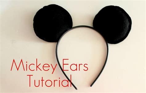 How To Make Mickey Mouse Ears With Construction Paper - creation corner mickey mouse ear tutorial