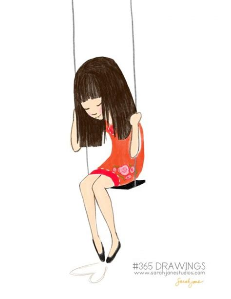 girl on a swing drawing 1000 images about swing illustrations on pinterest