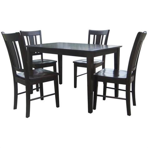 shaker dining set 5 shaker dining set in rich mocha k15 3048 c102 4