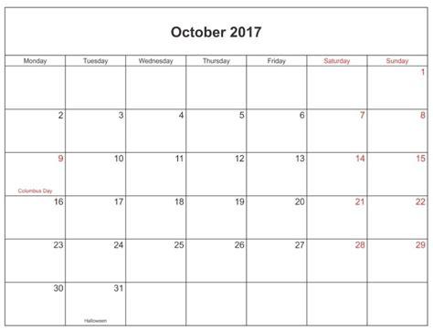 printable calendar october 2017 word october 2017 calendar editable calendar template letter