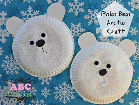 polar paper plate craft easy polar arctic craft paper plate for