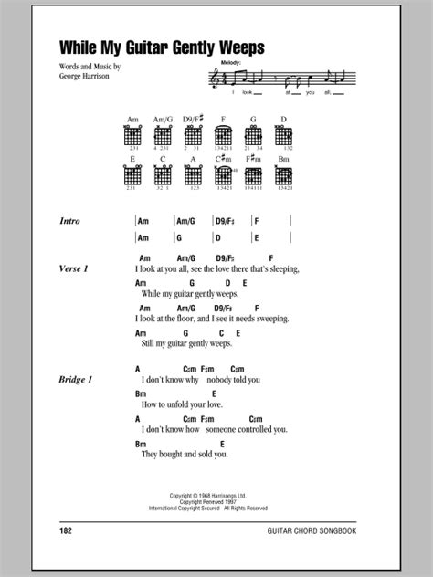 my lyrics guitar chords while my guitar gently weeps by the beatles guitar
