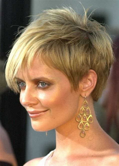 movie stars with short hairstyles short layered hairstyle