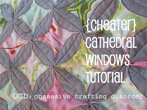 Cathedral Window Quilt Block Tutorial by Ocd Obsessive Crafting Disorder Tutorial Cheater