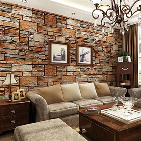 wallpaper dinding ikea beibehang three dimensional simulation messy rock stone