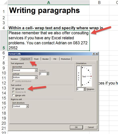write paragraphs in excel 2 auditexcel co za