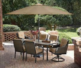 Outside Patio Dining Sets by Review La Z Boy Outdoor Charlotte 7 Piece Dining Set