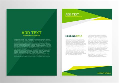 green brochure template green brochure template design free vector