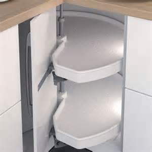 Kitchen Cabinet Carousel Corner Mondo 90 186 Carousel Complete Corner Unit Standard White Trays H 228 Fele Ireland Ltd