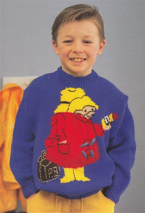 knitting pattern bear jumper paddington bear jumper knitting pattern pdf vintage