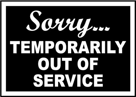 Temporarily Out Of Service Sign By Safetysign Com R5336 Out Of Service Sign Template